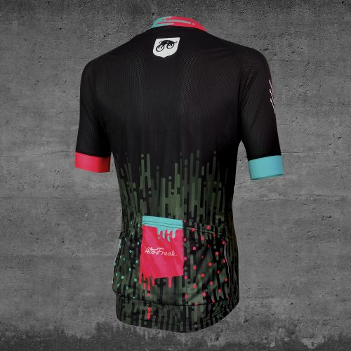 camo provocant cycling jersey