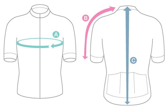 velofreak size Chart jersey