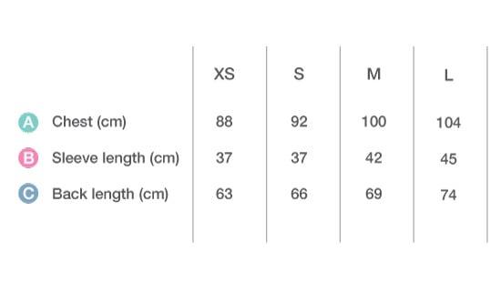 velofreak size Chart Tee